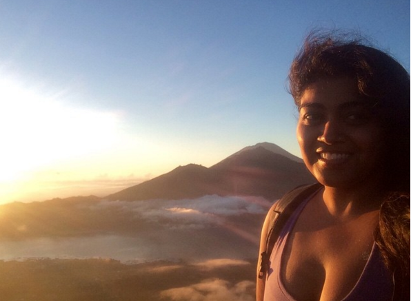 Sunrise from the top of Mount Batur, Bali, Indonesia