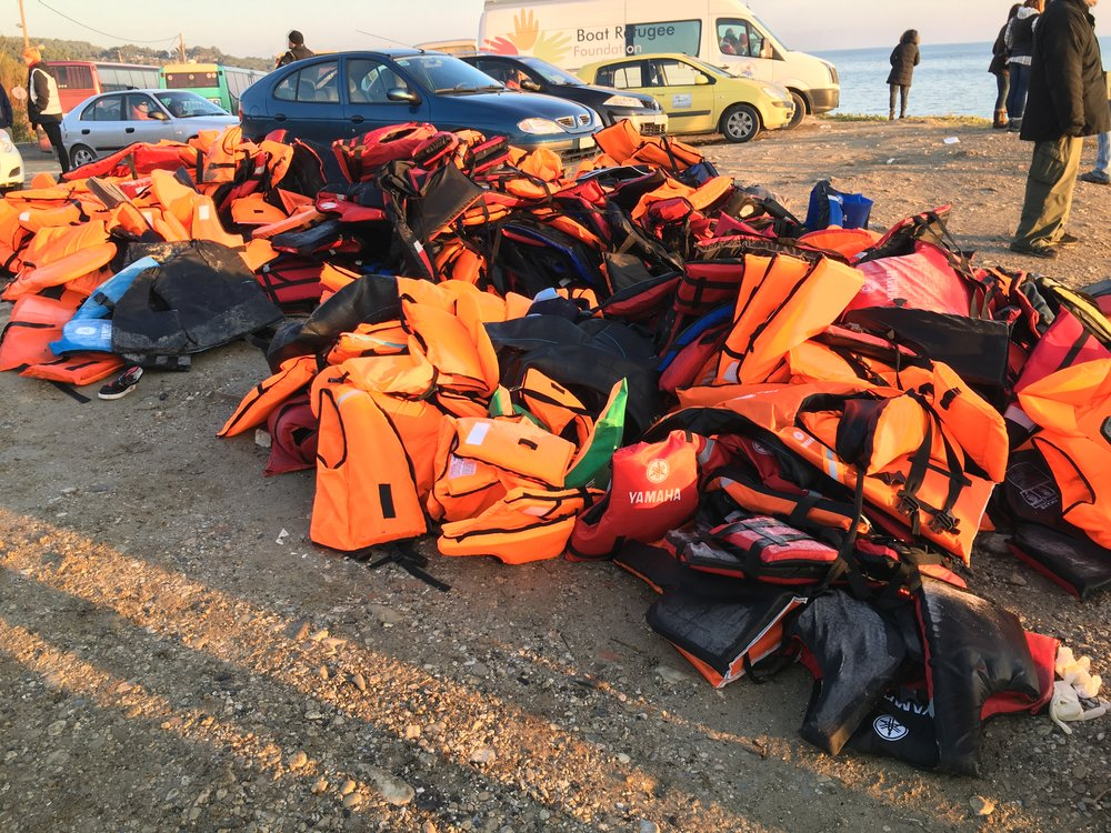 After Greece, I'll never look at life jackets the same. While I'm grateful for their existence, I wish they would be seen as the necessity that they are vs the luxury they're being portrayed as.