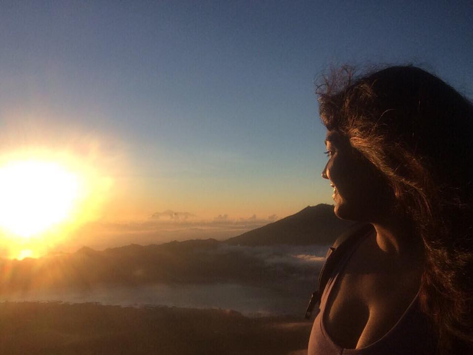Sunrise at the top of Mt. Batur, Bali, Indonesia