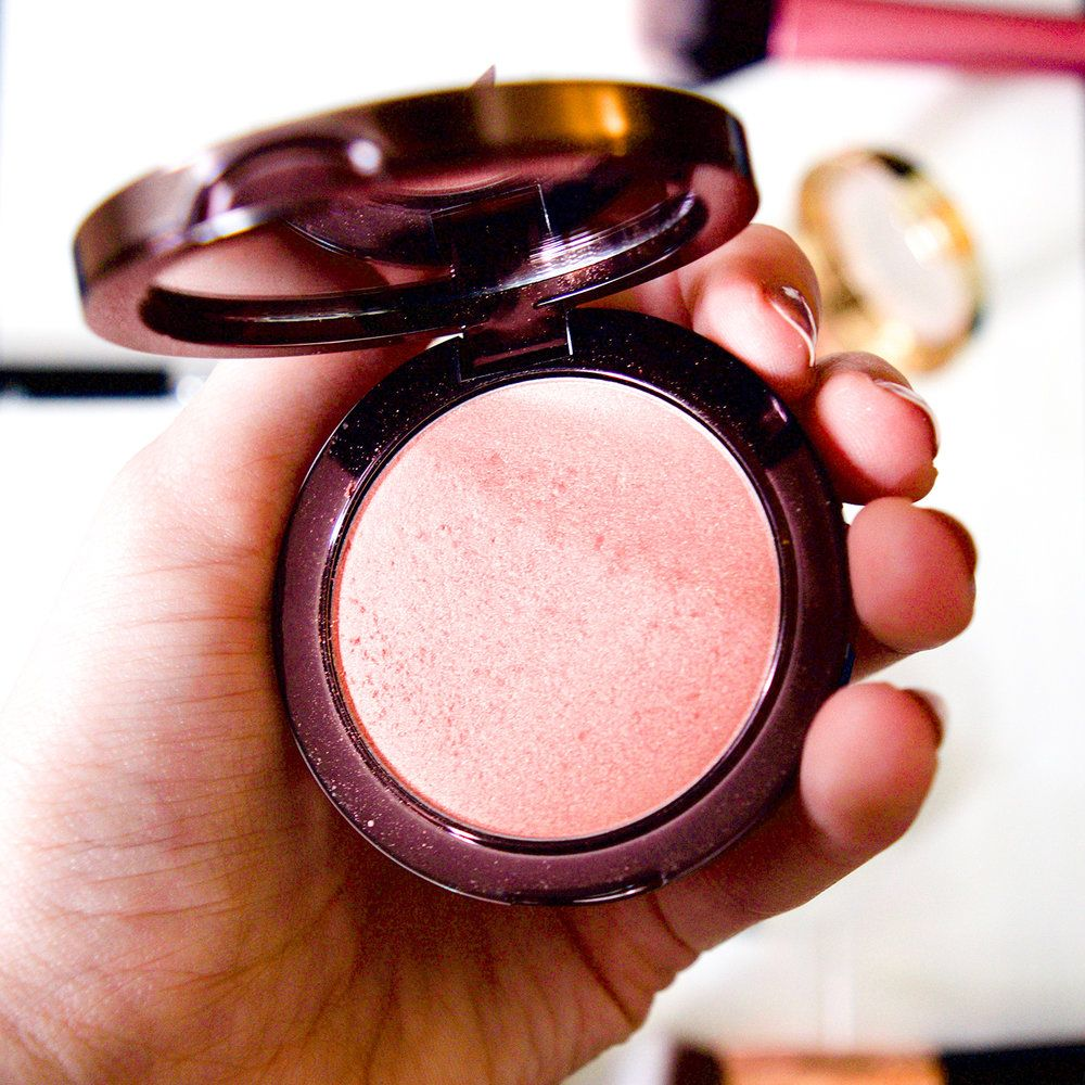 shimmer blush | Makeup Geek Blush | NARS Orgasam dupe | golden blush