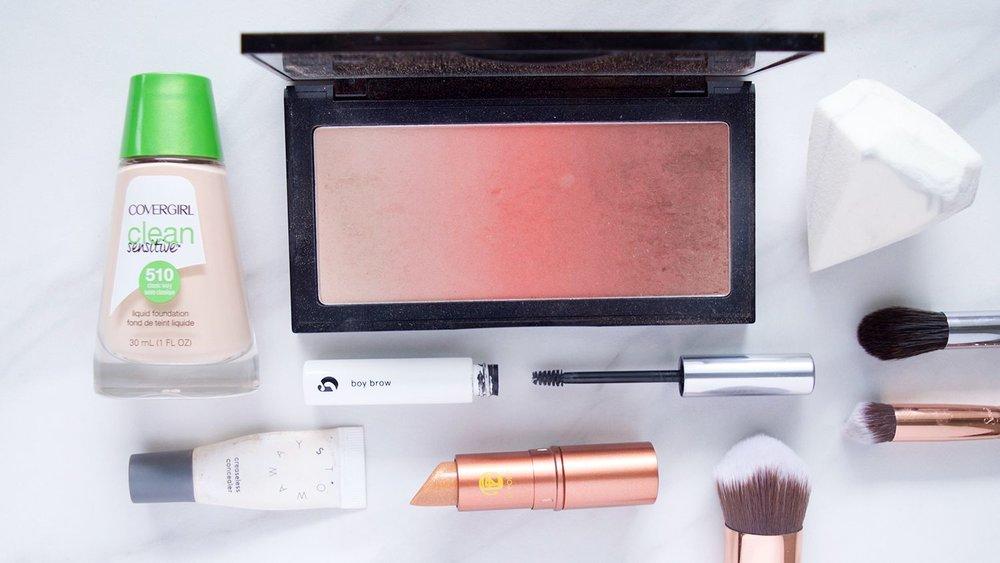 best makeup 2016 | Makeup picks | Makeup flatlay | pink