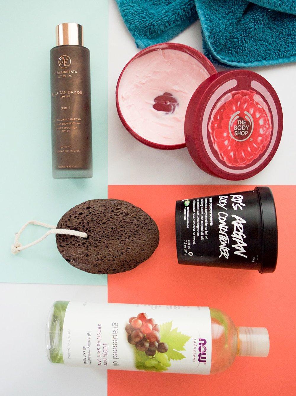 Body moisturizer | Exfoliation | Tan oil
