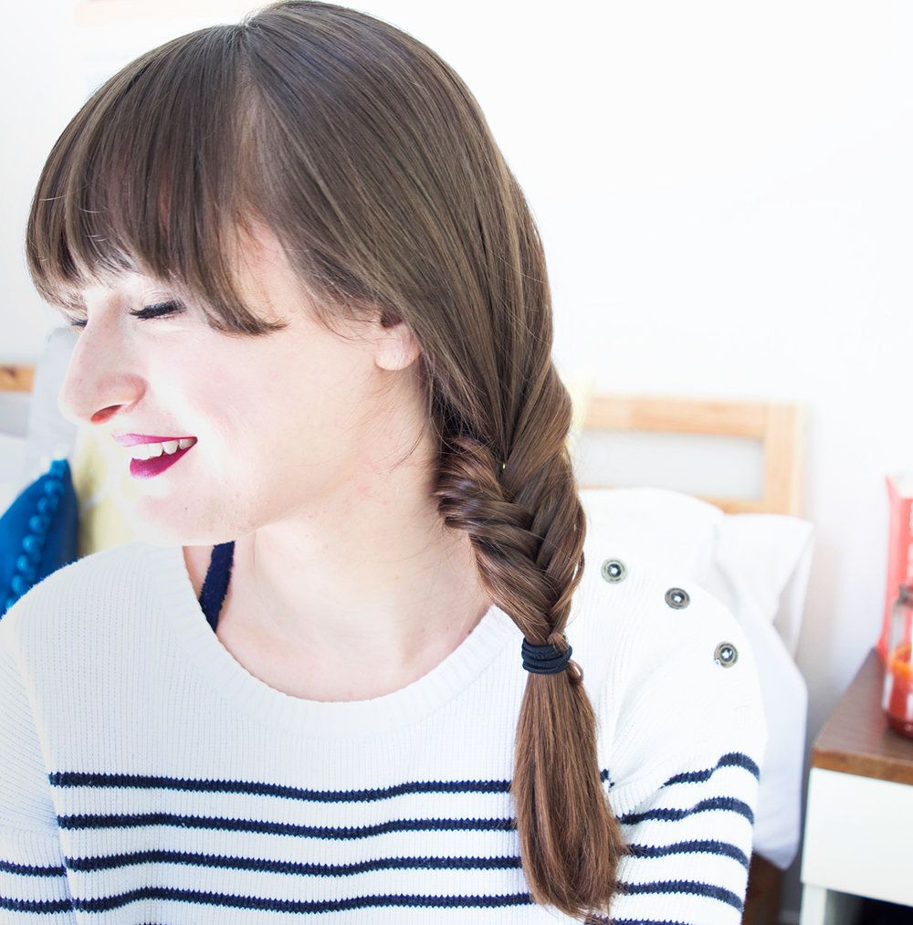 bangs hairstyles | fishtail braid | long hair braid | Mercuteify