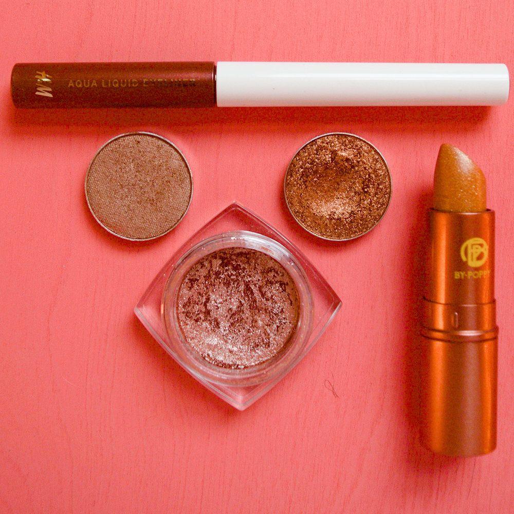fall peach makeup