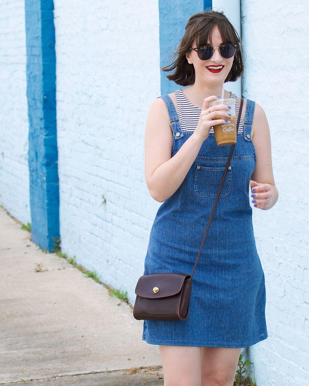 Thursday Thrift: Denim Overall Dress — Life + Style