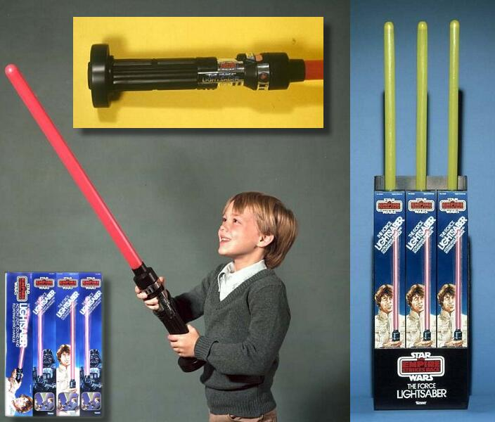 Creating child-size lightsabers was an overlooked design consideration in the early 80s