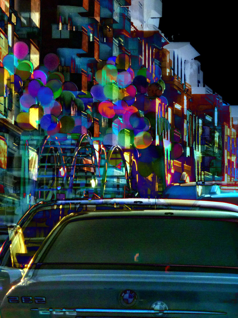 Setareh Shahbazi, Something Always Falls (Balloons), 4 x 11 inches, 2016