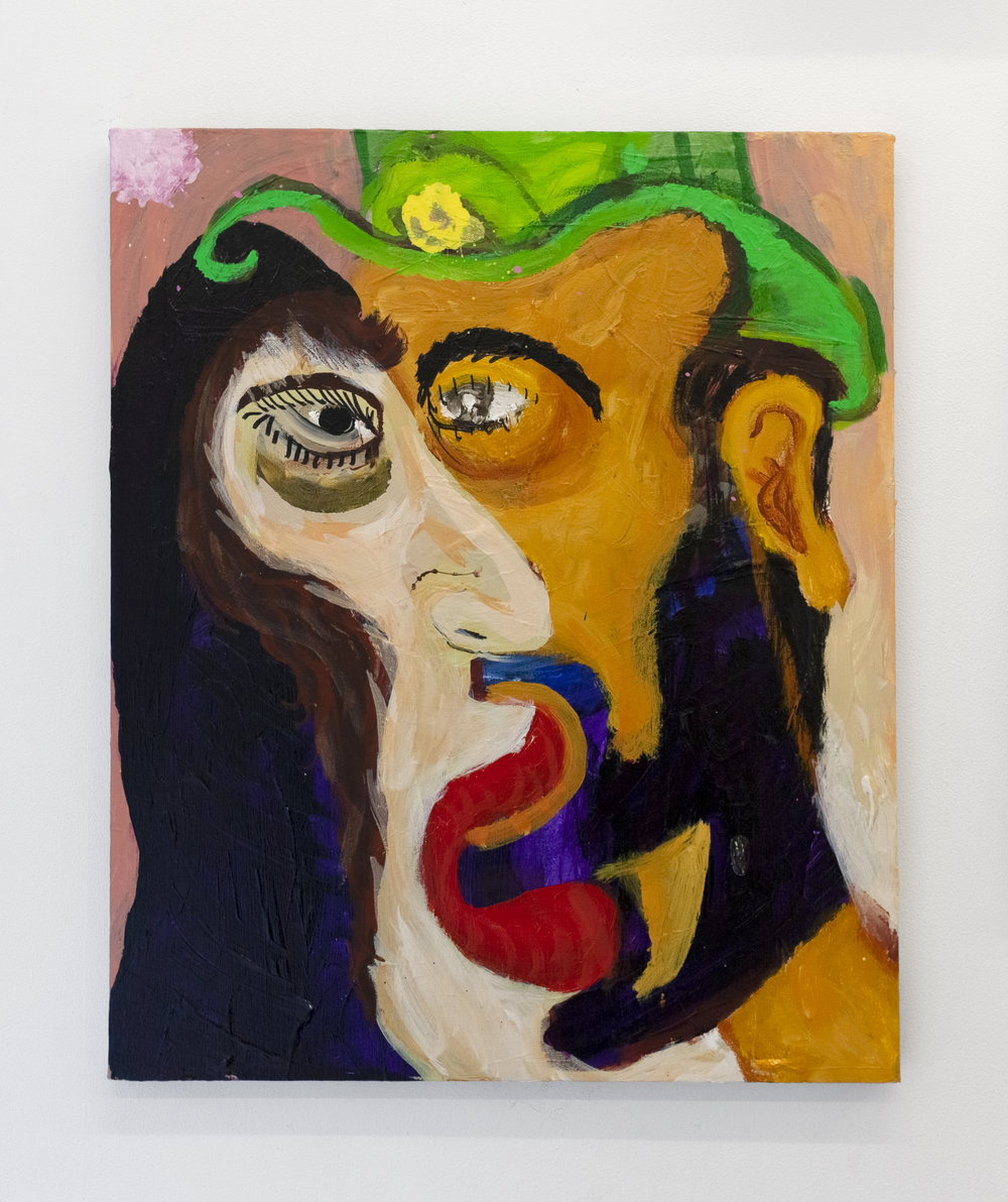 "Ali Chitsaz, Persian Kiss, 24""x20"", Acrylic on Canvas, 2018"