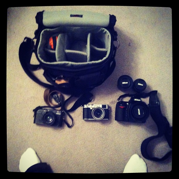Packing the kit bag for the biggest photo essay I've ever done. (Taken with  Instagram )