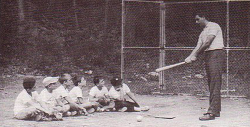 Ron instructing baseball