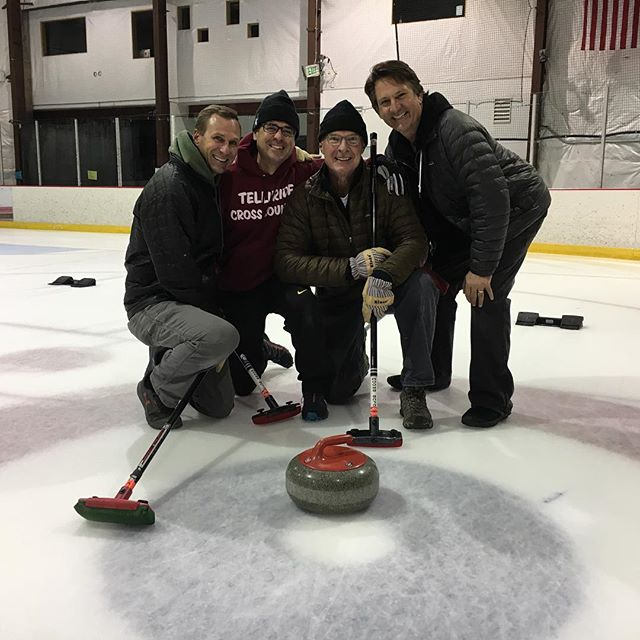 Congratulations to The Sheet Stains on their hammer stone to the button for the win last night! Come to open curling this Friday 11:30am-1:30pm so you can throw stones to the button like Banks!
