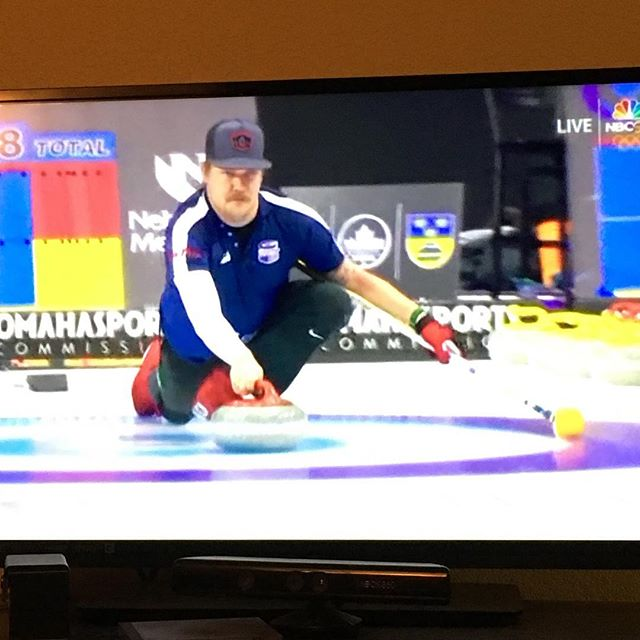Let's go @teamshustercurling!  Don't forget to tune in to @nbcsports for LIVE curling action tonight as 🇺🇸 takes on 🇨🇦 in the @curlingworldcup in @omaha_sports @ralstonarena #goodcurling #goteamusa #sweep #hurryhard #curling #curlingworldcup @shoostie @hamscurl @lands036 @chrisplys