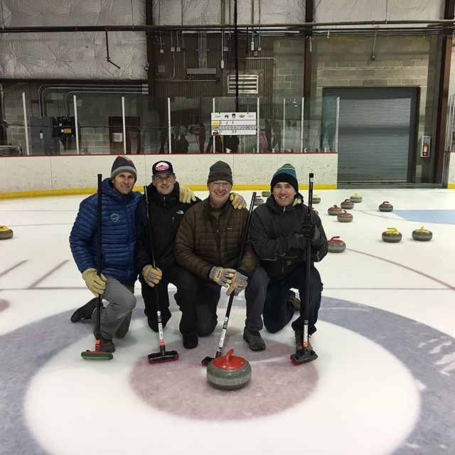 Congratulations to our 2018 League One Champions: The Sheet Stains! Banks, Greg, Ian, Matt, Chris, and Dan, way to go! Thanks everyone for an awesome league. League 2 starts January 7. #telluride #goodcurling #hurryhard #SWEEP #broomshooter #telluridecurling