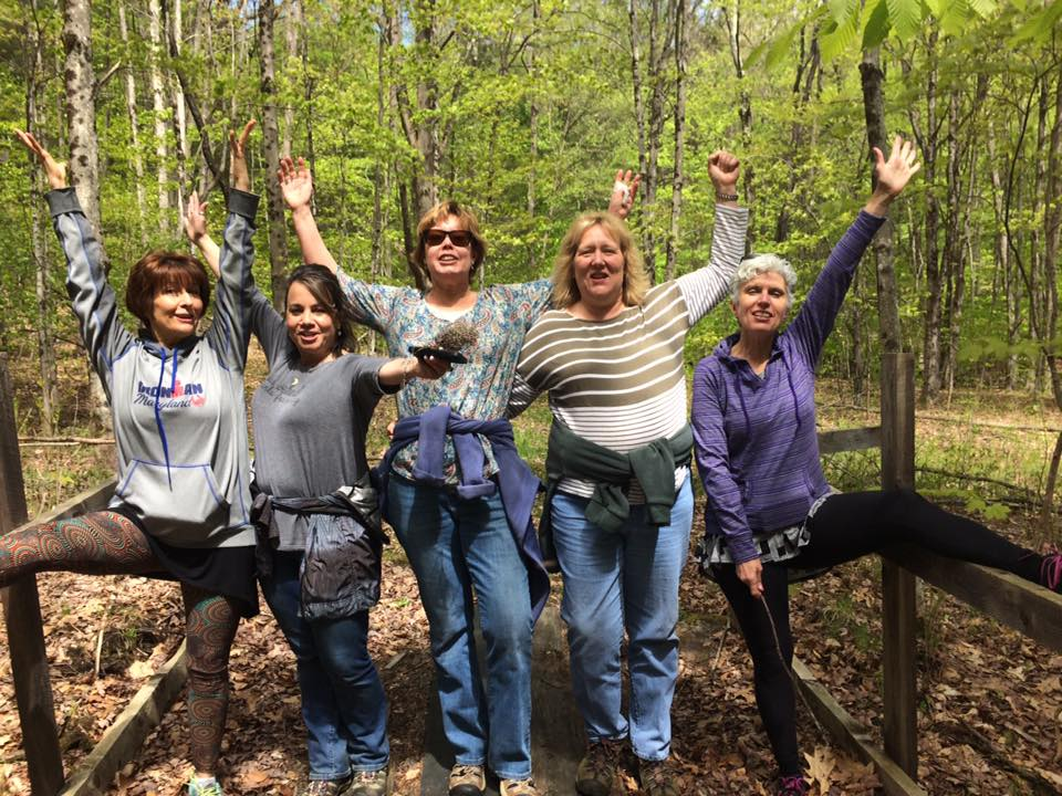 2017 Spirit Fire retreaters out exploring the trails