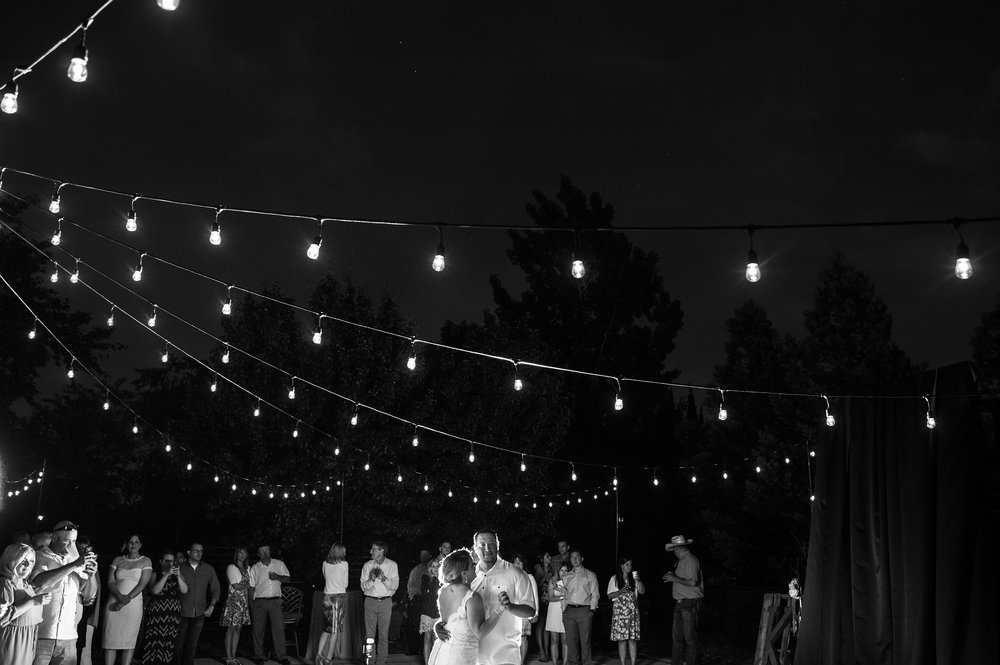 First dance during backyard wedding in Elk Grove California.