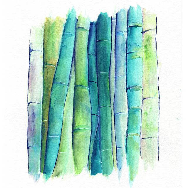 Bamboo can be blue too according to me 😄 . . . #watercolor #watercolour #botanical #bamboo #artistsofinstagram #artoftheday #art #artstagram #artistsoninstagram #etsy #etsyartist #greenery #etsyseller #etsyshop #forest #fantasyart #painting #paint #mixedmedia #ink #instaart #instaartist #inspiration #wallart