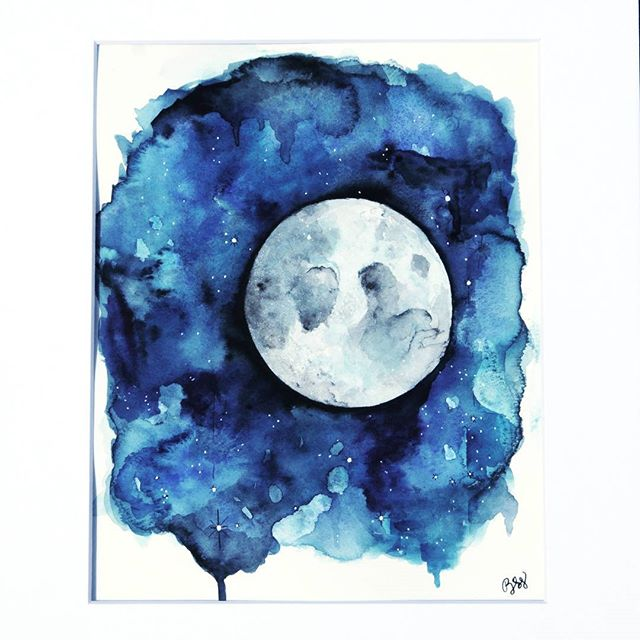 Let's take a trip ten thousand miles above the clouds 🌙🌕 . . #watercolor #watercolour #artoftheday #artforsale #artstagram #artistsofinstagram #qotd #quoteoftheday #wcw #wednesday #fullmoon #eclipse #moon #wallart #art #lunar #inspiring #sky #redecorating #homesweethome #interiordecor #blue #etsy #etsyshop #etsyfinds #etsyart #photooftheday #lyrics #instamood #moonlight