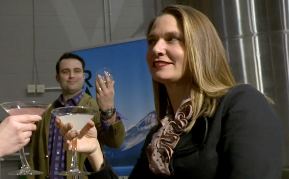 'Still' Life - Brad and Lindsay pose for the Uncorked Mannequin video