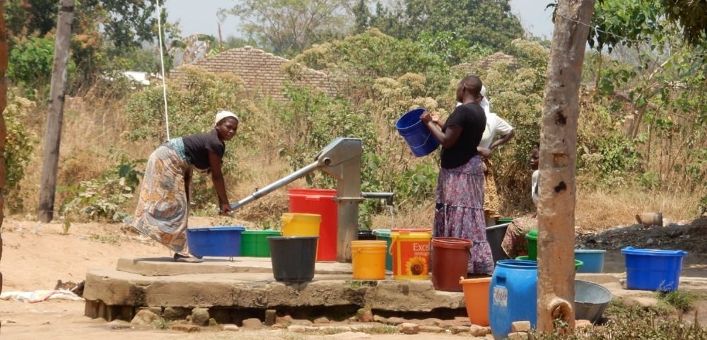 Canadian-built well in Kande, Malawi.
