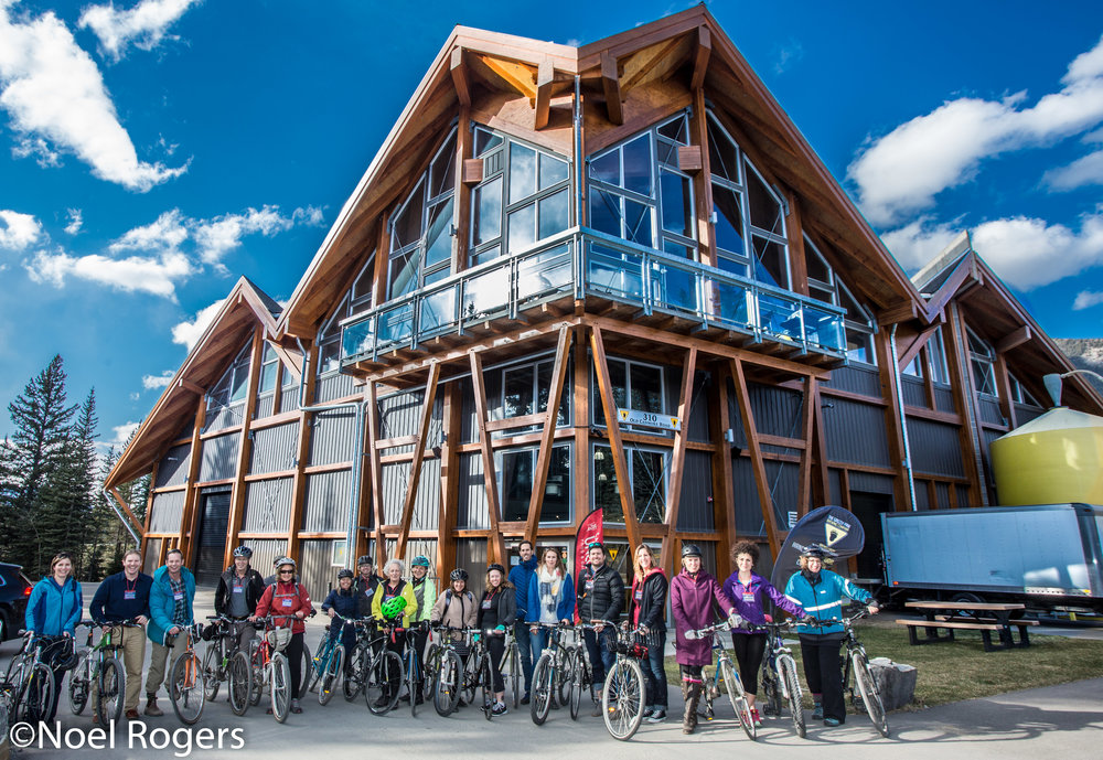 The progressive cycle tour at the Grizzly Paw Brewery