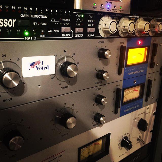 Voted... now back to work! #vote #election2018 #california #socal #bluehousesoundstudio #oclife #wefoundamap #skatepunk #1176 #revA #la2a #distressortuesday #distressor @bluehousesoundstudio @wefoundamap #studioporn #recordingstudio #recordingstudios #mixing #analog #compressor