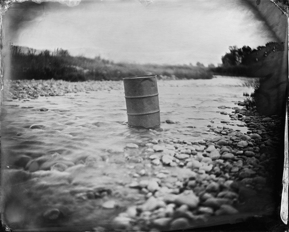Barrel in the Stream
