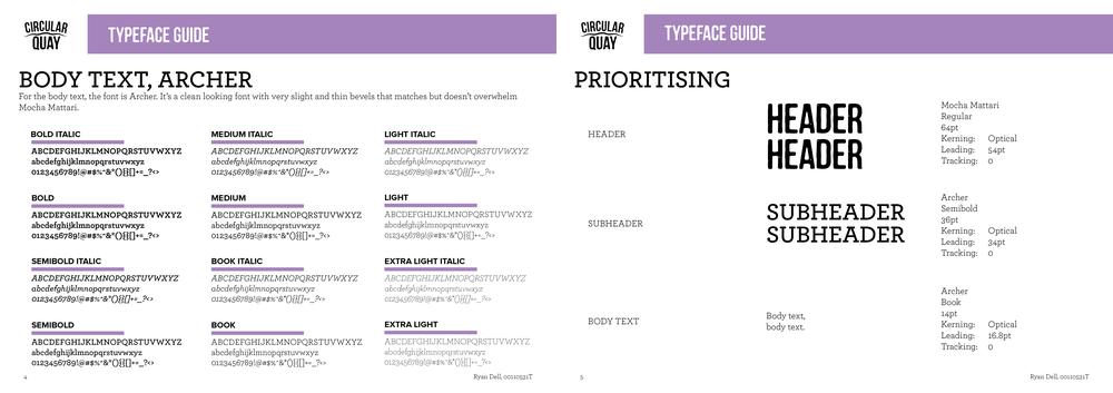 """Circular Quay Rebrand"" Style Guide"