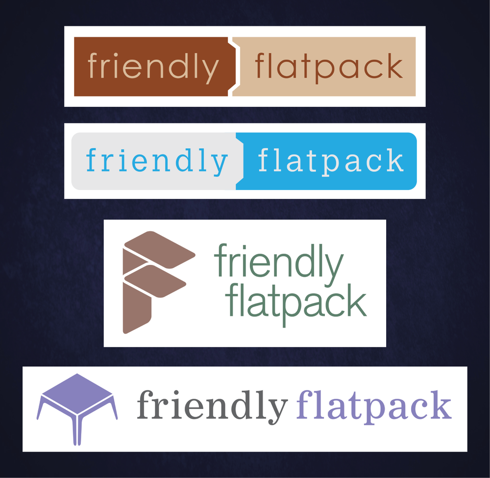 """Friendly Flatpack"" Logo Design"