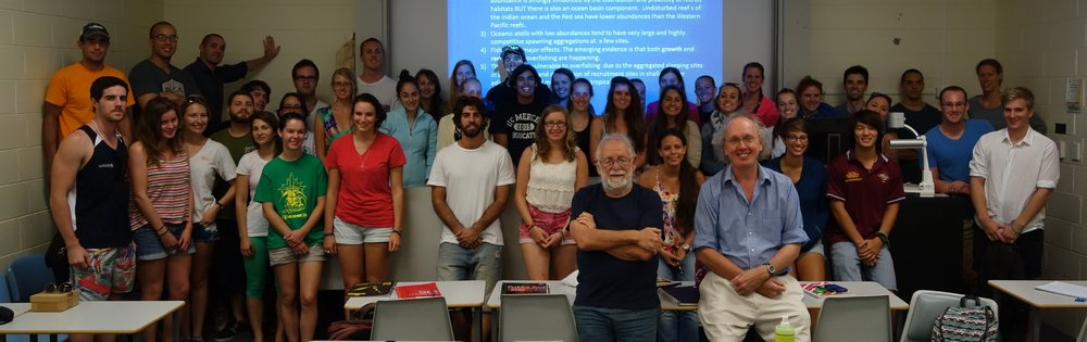 Guest lecture by Prof. Howard Choat in the evolution and ecology of reef fishes class.