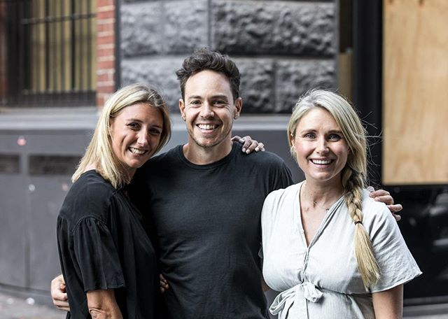 Team Pass! These are our three founders and producers @jeaninebribosia @samrken @magdalena_roze but it takes a village and we are excited to start introducing you to our extended Pass family in coming weeks- they are a super talented bunch and we couldn't do it without them! #thepassau #listennow #podcast