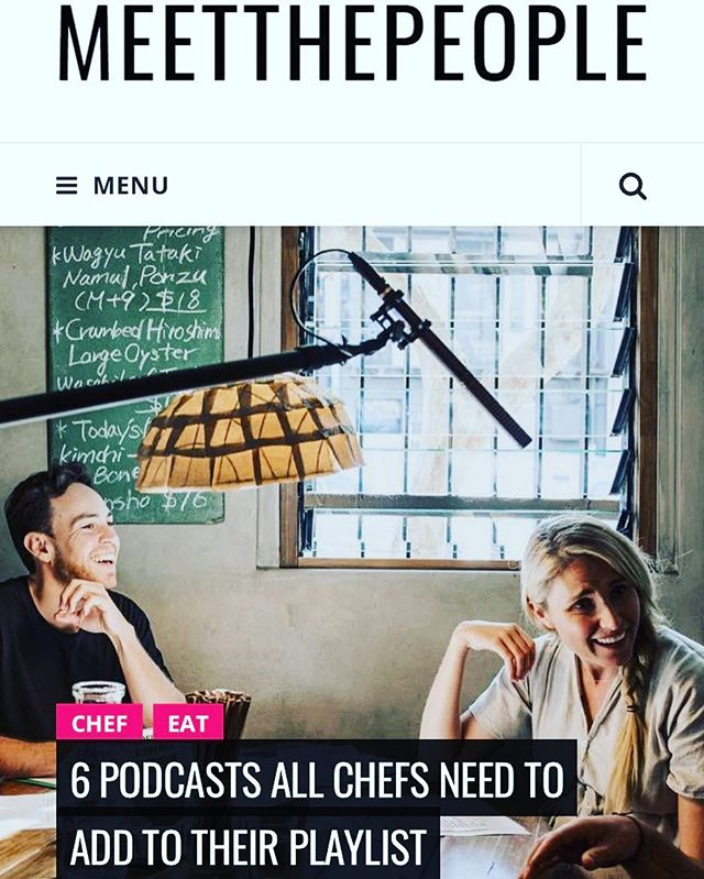 """Super excited to be listed by @meetthepeople.co as one of the top 6 podcasts out there that """"all chefs need to add to their playlist"""" 👨🍳 🎧! Be sure to subscribe to The Pass on iTunes so you don't miss an episode #linkinbio #thepassau #foodpodcast"""