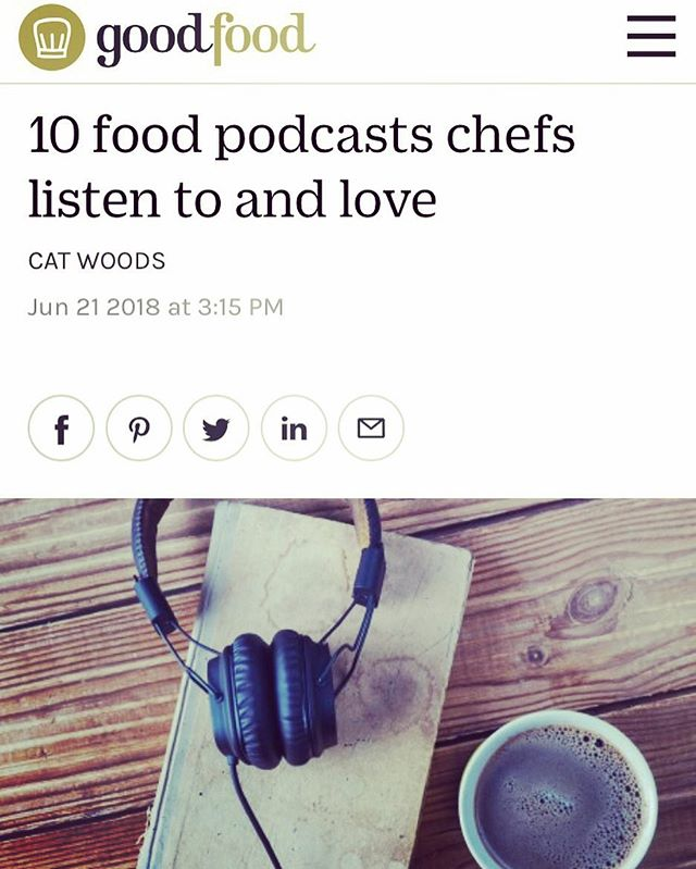 We are honoured to be mentioned in @goodfoodau '10 Podcasts chefs listen to and love' feature by @cat13gram - available for your reading pleasure at www.goodfood.com.au today 🙌🏽👨🍳❤️