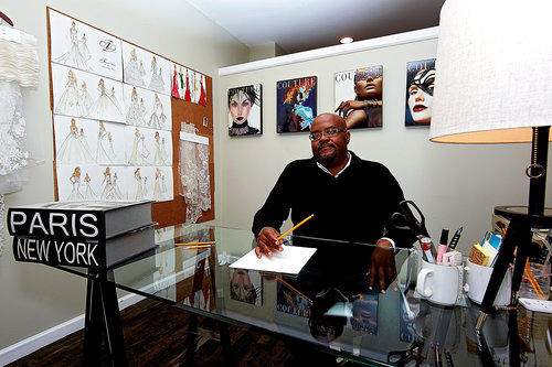 Haitian Bridal Gown Designer Thurin in New Jersey Office