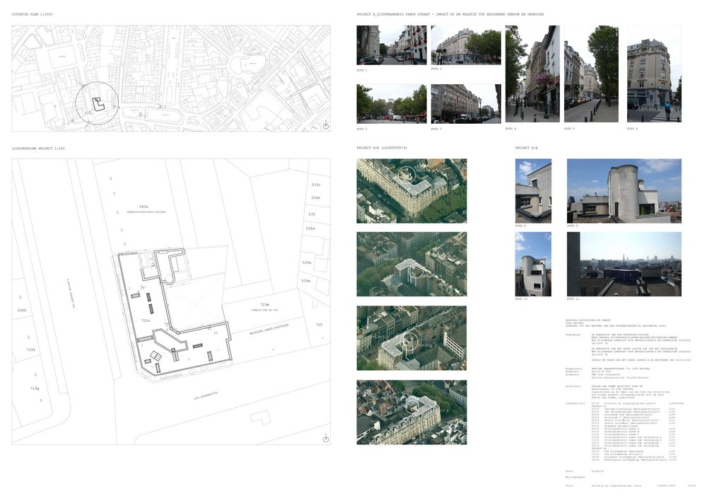 preliminary design / final design building permit / execution file / detailing copyright: fabien van tomme