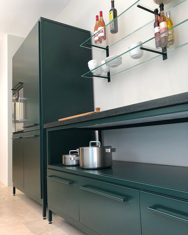 Dark Green Steel kitchen Chr d lX'S gade 4 #cphsquare #designkitchen  #kitchen