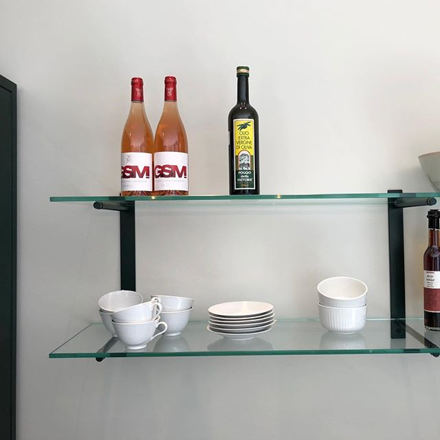 Dark Green Steel Shelves. #cphsquare #kitchendesign #steelkitchen #kitchen
