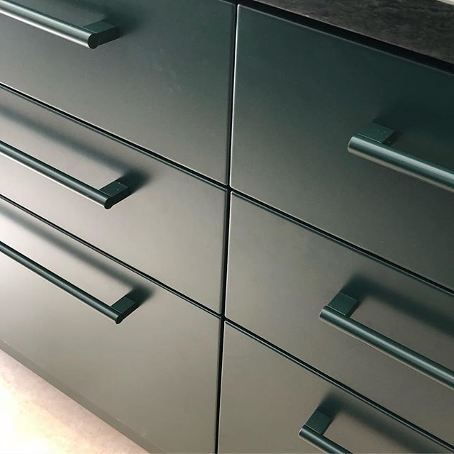 Dark Green Steel kitchen.  #cphsquare #kitchendesign #steelkitchen #kitchen