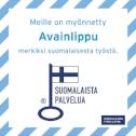 Meille on myönnetty AVAINLIPPU merkiksi suomalaisesta työstä!
