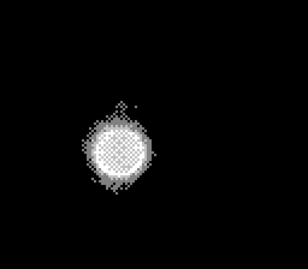 """Solar Track #02: 09/06/2017, 4:14pm"" BMP Image, 128x112 Pixels, 2017."