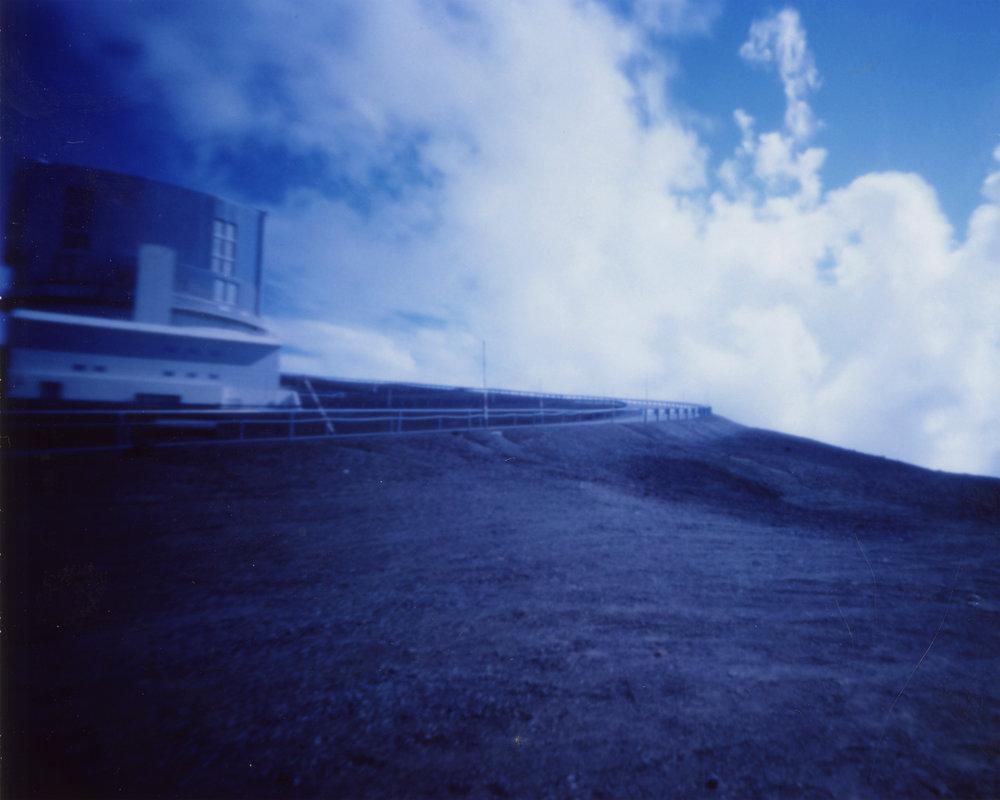 """Subaru Telescope at 970MPH"" Fujifilm FP-100C Instant Picture, 3.25""x4.25"", 2017."