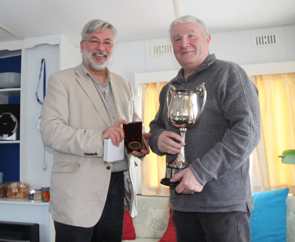 David Williams, VGC Archivist, receiving the Chairman's Cup in recognition.