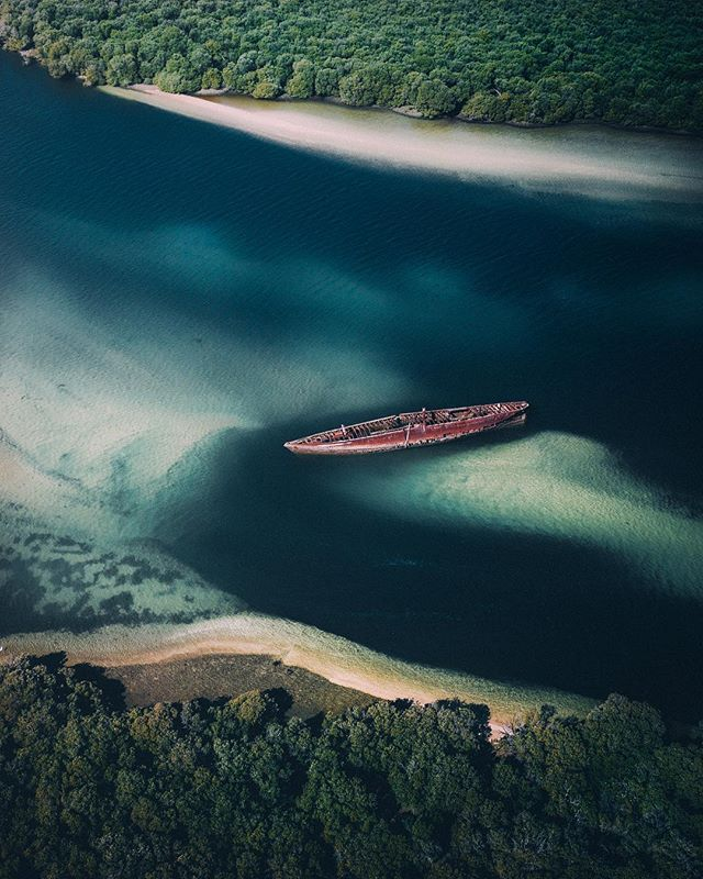 Hidden wrecks 🛶 #Mavic2Pro @djiglobal