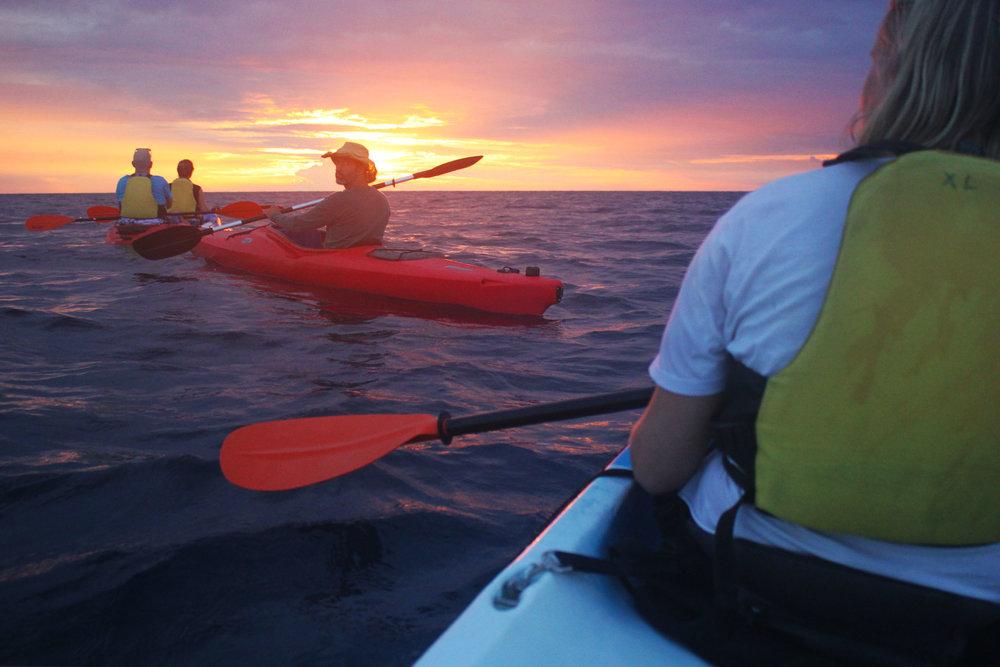 Kayaking at sunset  Rovinj Croatia