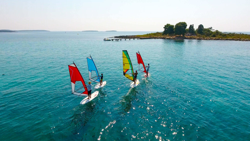 Windsurfing class. Five Elements guesthouse. Accommodation in Rovinj, Croatia.