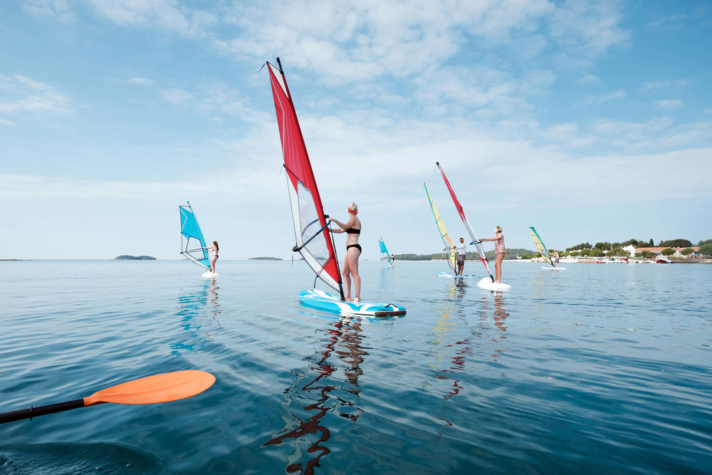 Windsurffing lesson in Five Elements Guesthouse Accommodation in Rovinj, Croatia.