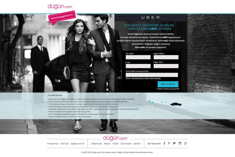 Dugun.com & Uber Landing Page