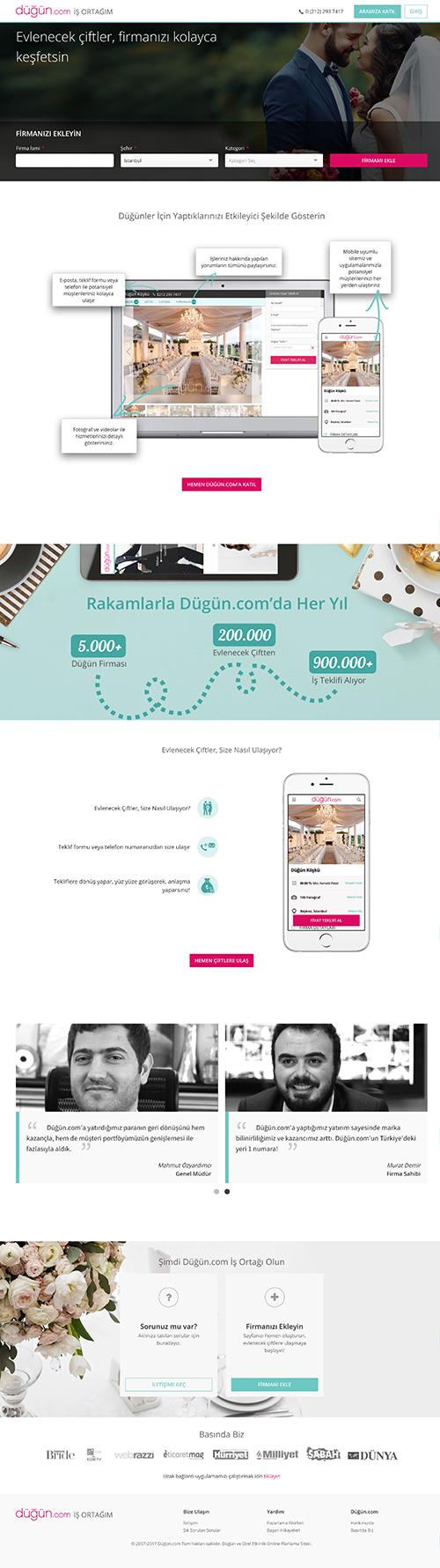 Dugun.com B2B Landing Page