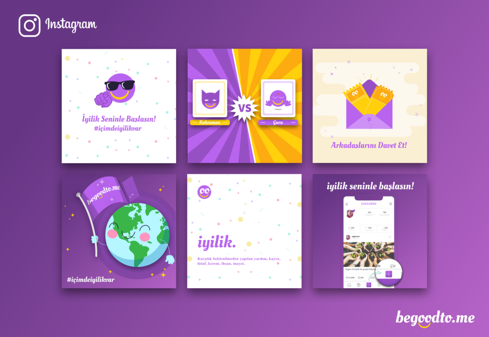 Instagram post designs for begoodto.me