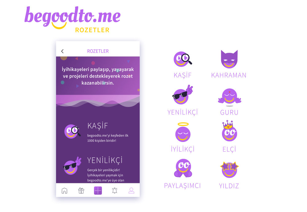 Badge Designs for begoodto.me