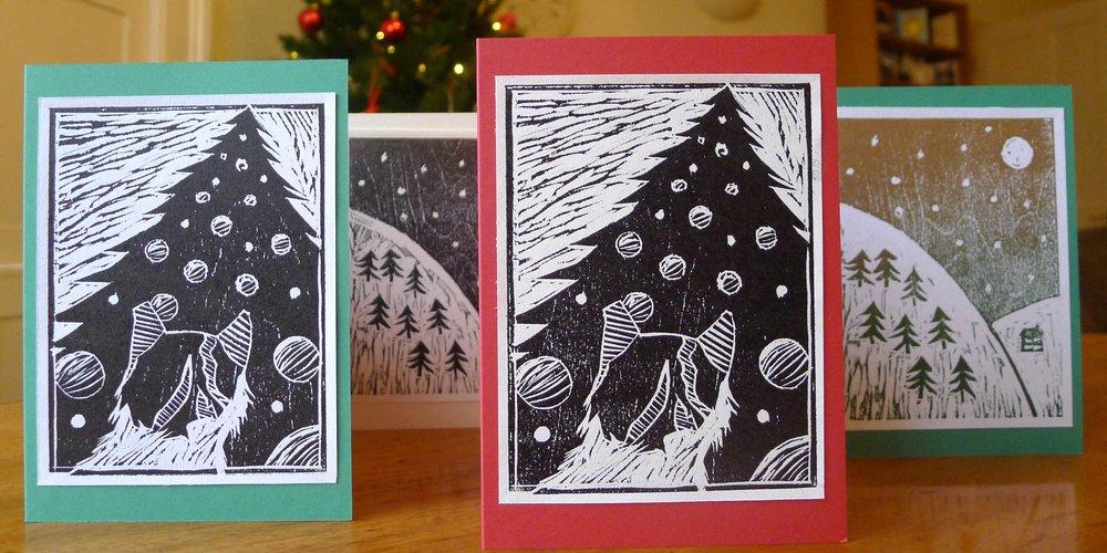 Making woodcut Christmas cards — Creative Greenwich